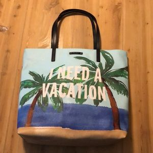 I Need a Vacation Tote Bag by Kate Spade